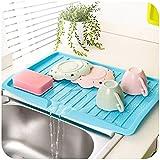 Rosa: Platos Fregadero desagüe Cocina Filtro de plástico Bandeja de Almacenamiento pallets Beber estantería escurridor Tabla vajilla Lavabo Taza