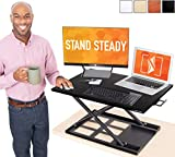 Stand Steady X-Elite Pro Standing Desk Converter | Instantly Convert Any Desk into a Sit to Stand Up...
