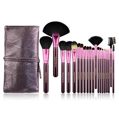 Lot de brosse maquillage : Pinceaux Maquillage avec Coque, Beauté blender et Aspirateur Costume 20 pièces, violet