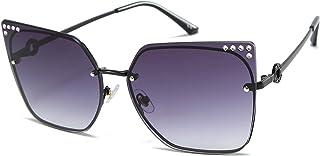 Large frame diamond-encrusted women's sunglasses, street photography sunglasses, women's sunglasses