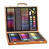 TYJKL Suproducción de artículos de Arte Madera Multi 150 Pieza Deluxe for Dibujar Pasteles Pinceles Professional Art Set para Libros para Colorear Adultos. (Color : Natural, Size : Free Size)