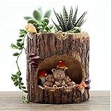 Youfui 可愛い 動物 植木鉢 プランターデザイン小物 フラワーポット DIY 飾り おしゃれ 多肉植物 寄せ植え 鉢 収納スタンドにも