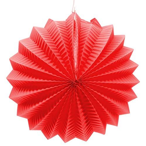 EuroFiestas Farolillo de Papel para decoración de Feria con Gancho Color Rojo
