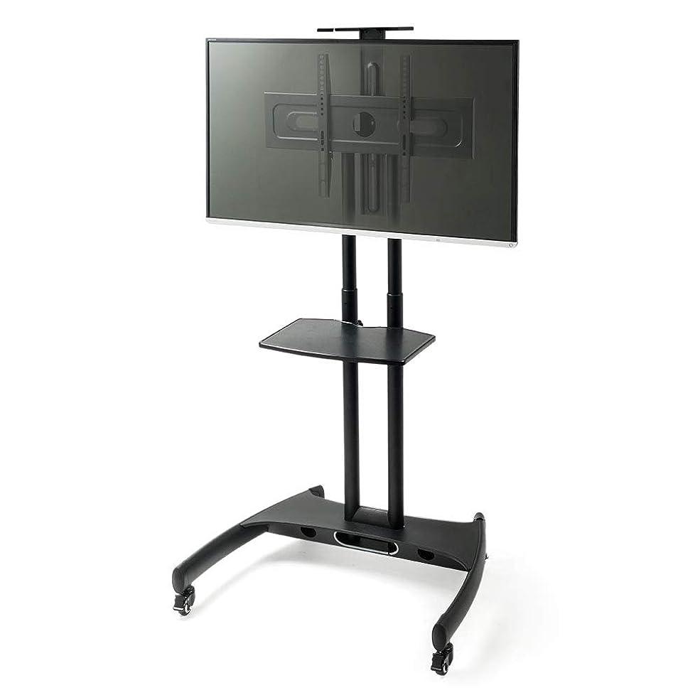 花嫁知人含めるイーサプライ テレビスタンド 32~60インチ 液晶テレビ 移動式 キャスター 高さ調節 11段階 大型 棚板付 ブラック EEX-TVS006