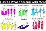 La Leela Badebekleidung glatt Rayon vertuschen Delfinen Bikini Sarong 78×43 Zoll rot - 7