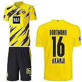 PUMA Borussia Dortmund BVB Heimset 2020 2021 Home Kit Sponsor BL Logo Herren Manuel Akanji 16 Gr XXXL