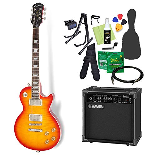Epiphone Les Paul Tribute Plus Outfit Faded Cherry エレキギター 初心者14点セット【ヤマハアンプ付き】 レスポール エピフォン