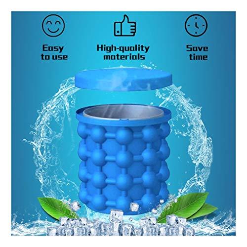 Cubo de hielo de silicona for la cerveza Cola almacenamiento en frío Caja de la categoría alimenticia del cubo de hielo máquina de hacer hielo Herramienta Cubito de hielo Cubos ahorro de espacio
