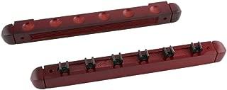 Freewheeler comercio Profesional 6 roller estante pared de pl/ástico negro para tacos de billar 6 piscina