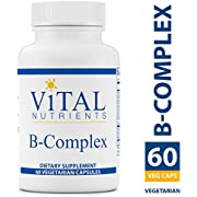 Vital Nutrients - B-Complex - Balanced High Potency B Vitamin Complex - Supports Energy Production, Metabolism and Heart Health - Gluten Free - Vegetarian Capsules