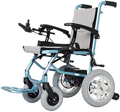GJNVBDZSF Lightweight Folding Carry Electric Wheelchairs, Compact Mobility Aid Wheel Chair, Ultra Light Two-Cell Lithium Battery Transport Chair, FDA Approved,Dualcontrol