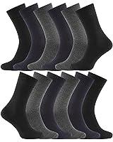 12 PAIRS - Charles Wilson Essential Socks (9-11, Assorted Dark (0619))