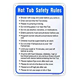 Hot Tub Safety Rules Sign, Pool Sign,- 10'x 14' - .040 Aluminum Reflective Sign Rust Free Aluminum-UV Protected and Weatherproof