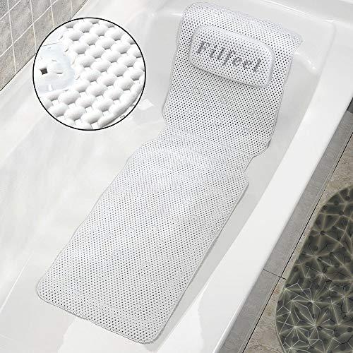 Filfeel Almohada de Baño, Almohada de Colchón de Baño de SPA de Cuerpo Completo Almohada de Bañera Acolchada Suave con Transpirable