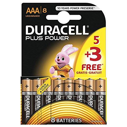Duracell Plus AAA Batterie 4 Pack LR03/mn/2400 * * U.K. IMPORT * *