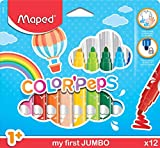 Maped Color' Peps Early Age Jumbo - Pack de 12 rotuladores