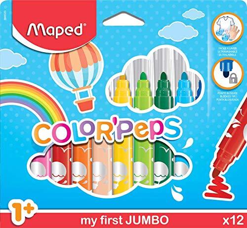 Maped M846020 Maxi Color Peps Fasermaler 12 Stück Kartonetui