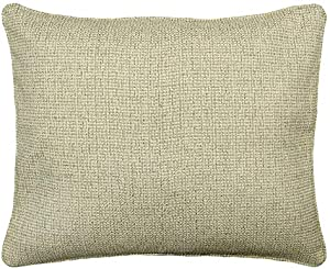 Rodeo Home Anabelle Textured, Solid Decorative, Throw Pillow for Sofa, Couch, Bed. Pillow Includes Feather Fill Insert. Color Flax Size 18x22