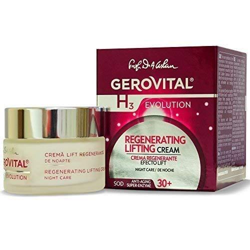Gerovital H3 Evolution Regenerierende Lifting Nachtpflege Creme Für Trockene, Sensible, Reife und normale Haut