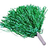 baotongle 12 PCS Cheerleading Squad Spirited Fun Poms Pompoms Cheer Costume Accessory for Party Dance Sports Green
