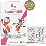 Official London 2012 Olympic 50p SPORTS COINS ALBUM FOLDER with space for the Completer Medallion by the Royal Mint (LOCOG Hologram) (NO 50p's or Medallion included EMPTY Album) by Royal Mint