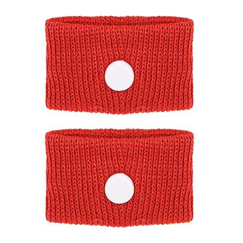 Bracelet anti-dégoûtant pour autobus, 5 couleurs pour le mal des transports/le mal de mer/les nausées matinales, Bracelet ajustable anti-nausée, Renforcer l'immunité, (rouge,)