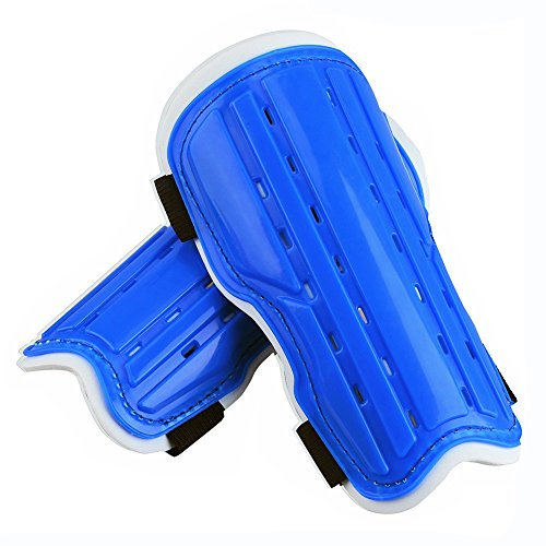 Kids Child Soccer Shin Pads, Youth Soccer Shin Guards Shinguards for Boys Girls, Lightweight and Breathable Child Calf Protective Gear Soccer Equipment for 5-12 Years Old Children Teenagers (BLUE)
