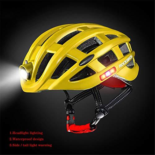 4U4 Casque de vélo avec éclairage Avertissement lumière...