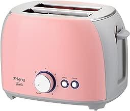King Ev Aletleri 2178 Fiesta Ekmek Kızartma Makinesi, Pembe