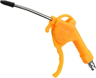 uxcell Air Blow Gun, with 4-Inch Long Angled Nozzle and 1/4PT Air Inlet, Yellow