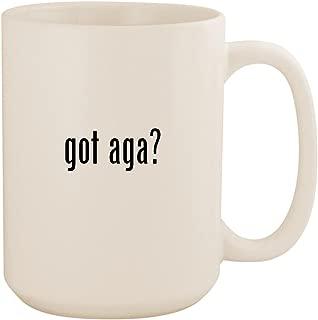 got aga? - White 15oz Ceramic Coffee Mug Cup