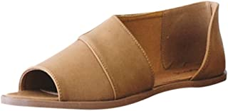 BEAUTYVAN Women's Boots,Retro Peep Toe Cut Out Rome Beach Flat Sandals Casual Walking Brown Shoes