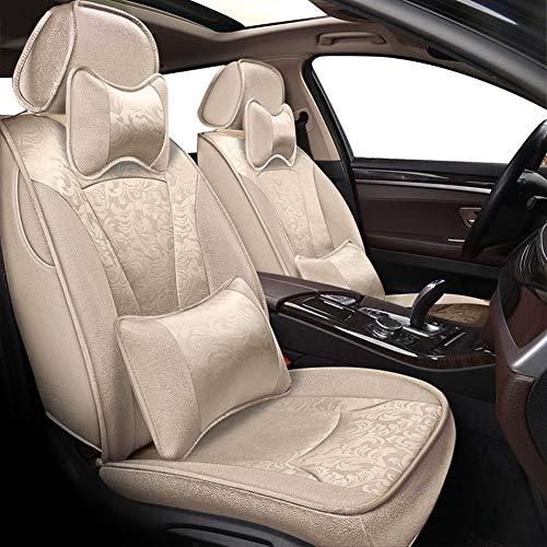 Shengyuan Asiento de coche cubiertas de cuero del sistema completo de la PU con lino sedán asiento protector accesorios del amortiguador for Mercedes W204 W211 W210 W124 W212 W202 W245 W163 Cla las IG