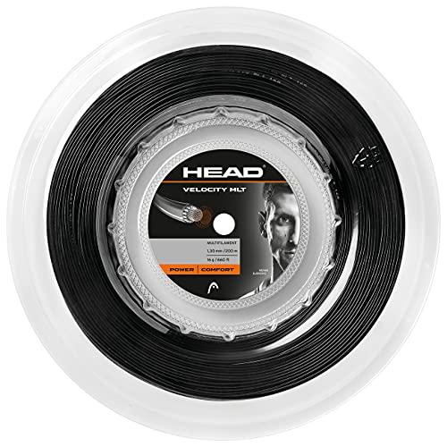 HEAD Velocity Mlt MATASSA, Corda per Racchetta da Tennis Unisex Adulto, Black, 16