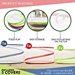 5 Pack Collapsible Pop Up Food Cover Tents - Reusable Mesh Screen Net Covers to Protect Your Food from Flies Bugs… 7