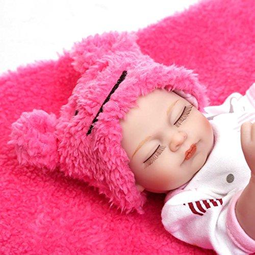 Pinky Reborn Mini 10 Pulgadas Lindo Muñecos Niña Bebé el Cuerpo Completo Silicona Suave Vinilo Renacer Bebé Mejor Regalo Paran Niños Juguete