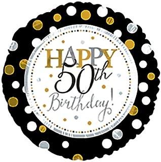 CTI Balloons Foil Balloon 117804 Happy 50th Birthday, 17