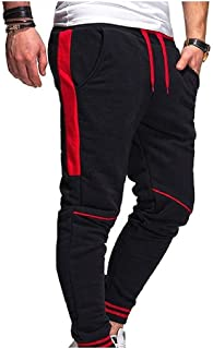 neveraway Mens Relaxed Fit Waistband Stretchy Sport Fashion Pants with Belt