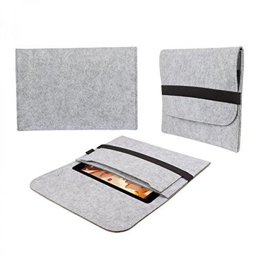 eFabrik tas voor Excelvan 10 10.1 vilt hoes tablettas sleeve case soft cover beschermhoes lichtgrijs