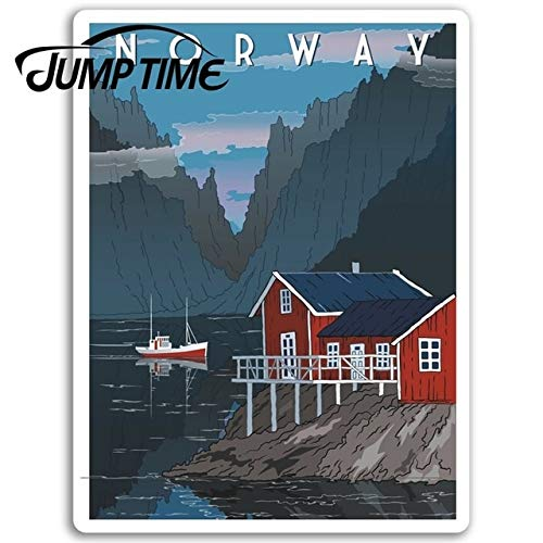 FAFPAY Car sticker Jump time for norway vinyl travel stickers fjord oslo laptop sticker luggage camper window bumper engine decal car wrapstyle A