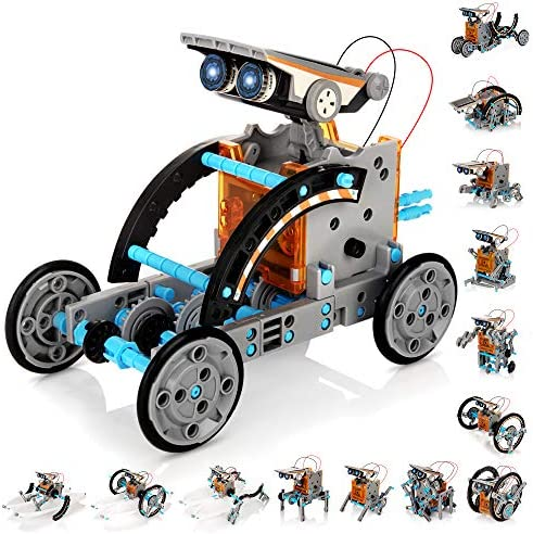 KIDWILL Solar Robot Kit for Kids 14 in 1 Educational STEM Science Toy Solar Power Building Kit product image