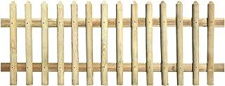 vidaXL Impregnowane ogrodzenie z listew, 170 x 80 cm, drewniane ogrodzenie ogrodowe