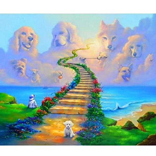 Foto knutselen complete set boring 5D diamant schilderij schaal hond dier borduurwerk kruissteek strass mozaïek geschenk herinnering