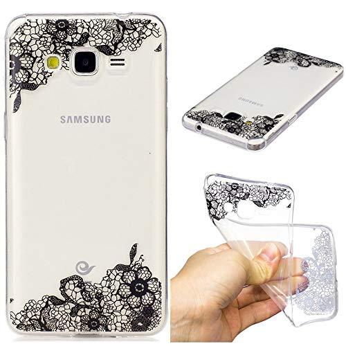 YYhin Custodia per Cover Samsung Galaxy Grand Prime G530(5.0'),Proteggi-Corpo Antiscivolo, Ultrasottile e Flessibile, Custodia in Silicone Case(Fiore di Pizzo)