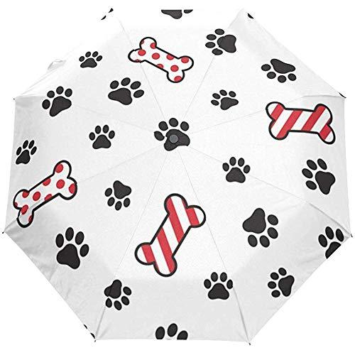 Schattige kat hond voetafdruk Puppy Paw Auto Open Paraplu zon regen paraplu Anti UV vouwen Compact automatische paraplu