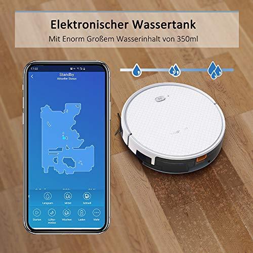 Saugroboter,TESVOR X500pro Saug-Wischroboter 2 in 1 Intelligente Gyroskope-Navigation Reinigungsroboter 350ML elektronischer Wassertank Reinigungsanzeige in Echtzeit für Glattböden - 4