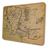 Map of Lord of The Rings Isinger Mouse Pad with Stitched Edge - Non-Slip Rubber Base Mousepad for Computers,Laptop,Gaming,Office & Home 10 X 12 Inch