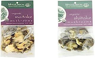 Mycological Dried Organic Maitake Mushrooms, 1 Ounce Package & Dried Organic Shiitake Mushrooms, 1 Ounce Package
