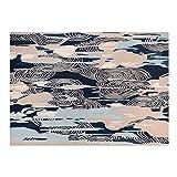WUHE Alfombras La Lana Hecha a Mano Alfombras alfombras, Chino del Arte Abstracto Corto de Terciopelo de Lana Alfombra for Sala de Estar Decoración 5,2 x 7,5 pies moquetas