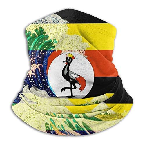 Mathillda Uganda vlag en golf voor Kanagawa - Gamabuisjes, veelzijdig inzetbaar, warme haarband